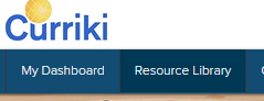 Search Blue Nav bar Resource Library button